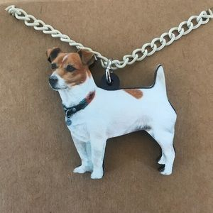 Used, Jack Russel dog necklace for sale